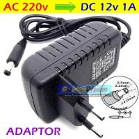 Adaptor DC 12v 1A in: 220V AC Power Supply 2.1x5.5mm Adapter LED CCTV