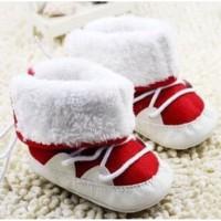 Prewalker Boot Red White Lipat 2 Model Sepatu Prewalker Bayi Lelaki Pe