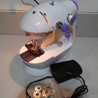 Jual [ADA LAMPUNYA]MESIN JAHIT MINI PORTABLE SEWING MACHINE (2 BENANG) Murah