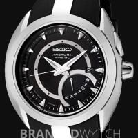 Jam Tangan Seiko SRN013P1 Arctura Kinetic Retro Day Black Silver Black