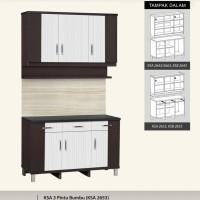 Kitchen Set atas dan bawah 3 Pintu + Rak Bumbu Anata Series