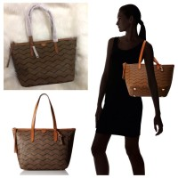 TAS FOSSIL Sydney Shopper Brown Multi [ORIGINAL FOSSIL BAG]