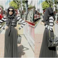 Jual Pleated Maxi Skirt / Rok Plisket Panjang Murah