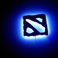 Lampu LED DOTA 2 Logo (DOTA2 LED Lamp)