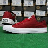 Sepatu Converse Chuck Taylor Grade Ori Vietnam Merah Maroon Unisex