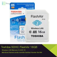 WIFI SDHC / SD Card Toshiba FlashAir 16GB Class 10 class10