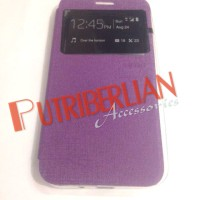 Casing Asus Zenfone 2 5 inch Flip Case Ume View Purple Flip Cover