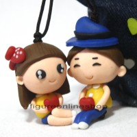harga GANTUNGAN TAS / KUNCI CLAY 3D COUPLE BOY GIRL (MOTIF-1) Tokopedia.com