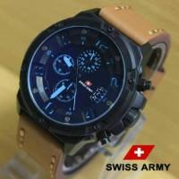 Jam Tangan Swiss Army SA1359 Kw Super Light Brown List Blue