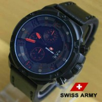 Jam Tangan Swiss Army SA1359 Kw Super Black List Red