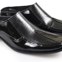 Sepatu Sandal Pria Kulit Formal Casual Slip On Sandal Bustong Terbaru