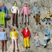 miniatur orang | model 10pcs | diorama aksesoris
