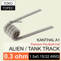 Tank Track Kanthal A1 Coil 0.3 ohm | fused clapton kantal alien ribbon