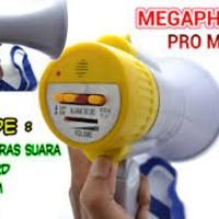 MEGAPHONE PRO MASTER USA TOA PENGERAS SUARA ALARM REKAM SIRINE SPEAKER