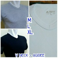Jual Kaos Dalam V neck / kaos dalam oblong V neck pria Agree Murah