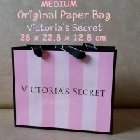 versi2 MEDIUM Paper Bag Original Victoria Secret Tas Belanja Karton