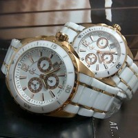 Gc X760 Rosegold White Ceramic Couple