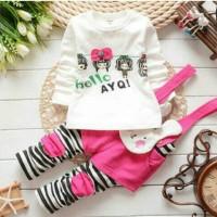 Grosir Baju Anak / Pakaian Anak / Setelan Anak / St Hello YA Putih