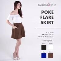 Poke flare skirt bandage fever uninamu flare skirt
