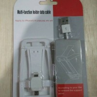 Multi Function Holder Data Cable / Stand Kabel Data (White)