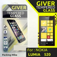 TEMPERED GLASS GIVER NOKIA LUMIA 520