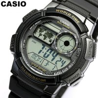Casio - Jam Tangan Pria - Hitam - Strap Rubber - AE1000W-1AVDF
