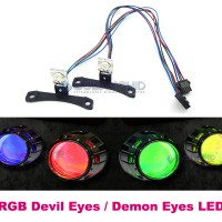 "RGB Demon Eye LED Devil Eyes Untuk Projector 3.5"" MH1 G1 AES Vision"