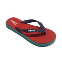 Fipper - Sandal Cowok Fipper Wide - Red Turqoise Navy