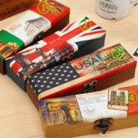 Retro Pencil Case ( Flag ) | Vintage - Bendera - Tempat Pensil Unik