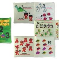 buku bantal mengenal Angka, Mainan edukatif / edukasi anak bayi balita