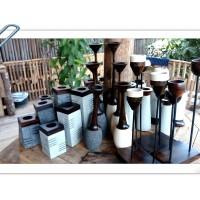 Tempat lilin Batu Alam, Dekorasi, Penggunaan rumah tangga, Candle-8