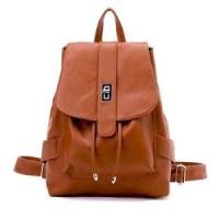 bp330 coklat | tas ransel / backpack import gaya korea koleksi caciku