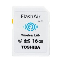 Toshiba Flash Air Wireless SD Card Class 10 16GB - SD-R016GR7AL03A - W