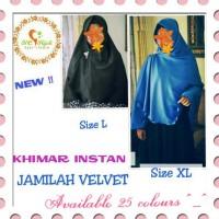 Khimar Instan Jamilah Velvet - Pet Antem Uk XL