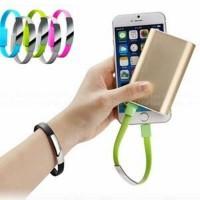USB Bracelet / Gelang Kabel Data Transfer & Charge (IPhone & Samsung)