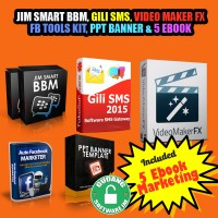 harga CD JIM SMART BBM, GILI SMS, VIDEO MAKER FX, FB AUTOPOSTER, PPT BANNER Tokopedia.com