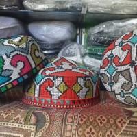 Peci / Kopiah / Songkok / Busana Muslim / Peci Full Bordir (Pakistan KW)