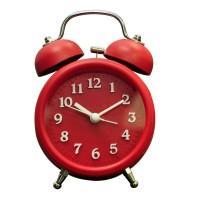 Jam Weker +Lampu [sweep] 2863 Diameter 7.6 cm - Merah (09180)