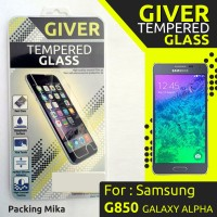 TEMPERED GLASS GIVER SAMSUNG G850 GALAXY ALPHA