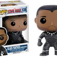 FUNKO POP CAPTAIN AMERICA CIVIL WAR Black Panther Unmasked