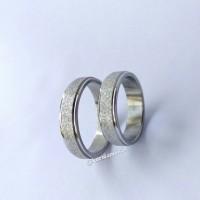 Cincin Titanium Stainless Couple Silver Pasiran