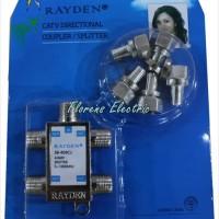 Antena TV Splitter 4 Cabang Merk Rayden / CATV Directional Coupler
