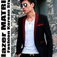 Blazer MATRIX MAROON - Jas Semi Formal Pria Cowok Slimfit Model Import