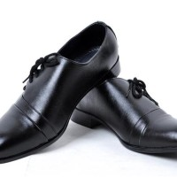 Sepatu Kerja Formal Pria BLACK IMPORT Office Shoes Hitam Stiletto