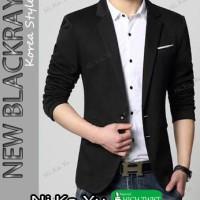Jual Blazer NEW BLACKRAY - Jas Semi Formal Pria Slimfit Korea Keren Murah