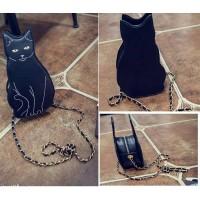 RS9051 Tas Import Fashion Korea Motif Kucing #Cat