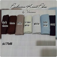 Pashmina Kusut Polos / Pashmina Wrinkle Plain Umama / Pashmina Rawis Murah
