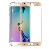 Jual Tempered Glass Samsung Galaxy S6 Edge Plus Gold full cover edge