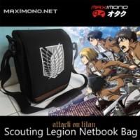 Tas Netbook Anime Attack on Titan SNK Scouting Legion