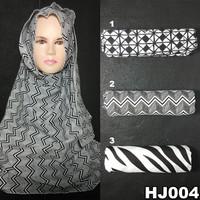 Jilbab Kerudung Pashmina Hijab Jilbab ootd Monochrome Murah